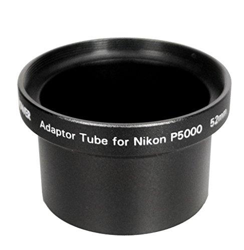 Bower AU4352N Nikon P5000/P5100 52 mm Adapter Tube (Black)