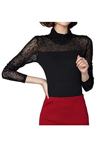 Jumper Top De Imprim Floral Femmes 398 Col Roul De Base Shirt T Maille axwUROqv