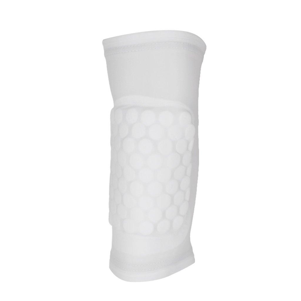 Rodillera Protectora Almohadilla de Rodillas Antideslizante Elástica para Deportes Baloncesto Blanca L Genérico