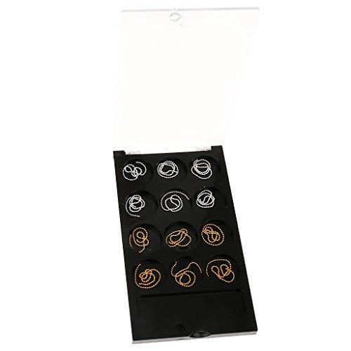 12pcs Gold Und Silber Perlen Kette für Schmückung Nail Art Nagellack Deko
