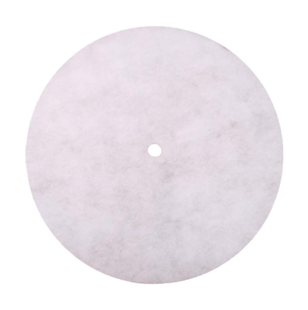 Eyiou Christmas Tree Skirt, 24 Inches Pure White Tree Skirt for Merry Christmas & New Year Party Holiday Home Decorations
