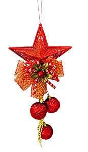 MERRY CHRISTMAS TREE HANGING STAR JINGLE PENDANT PARTY DECORATION ORNAMENTS