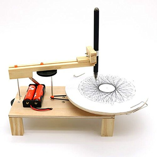 DIY Electric Plotter Drawing Tool - YiGooood Kids Student Scientific Experimental Educational Toy (Student Plotter)