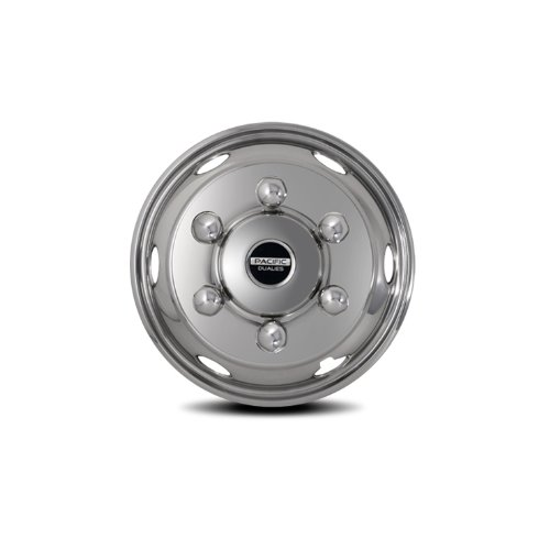 Pacific Dualies 45-1960 Polished 19.5 Inch 6 Lug Stainless Steel Wheel Simulator Kit for 2017 - Earlier Diesel Isuzu FRR/NPR/NQR/FSR Lo-Pro and Chevy GMC W4500/W6500