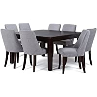 Simpli Home Walden 9 Piece Dining Set, Grey