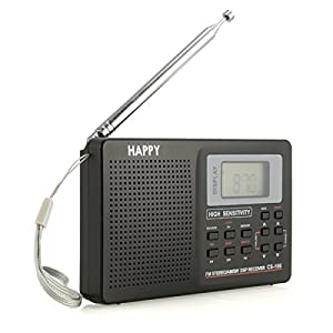 World Full Band Radio Receiver Portable Digital AM/FM/SW/MW/LW Radio Alarm Clock