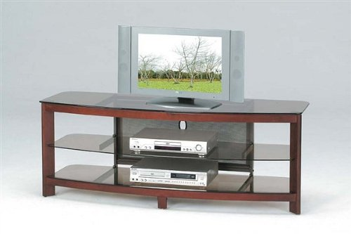 Zephyr Contemporary LCD Plasma TV Media Stand (Stand Barrel And Crate Media)