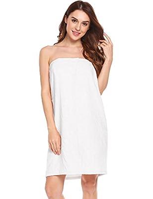 Langle Women's Bathrobe Casual Cotton Pocket Towel Spa Robe Wear Loose Sleepwear S-XXL