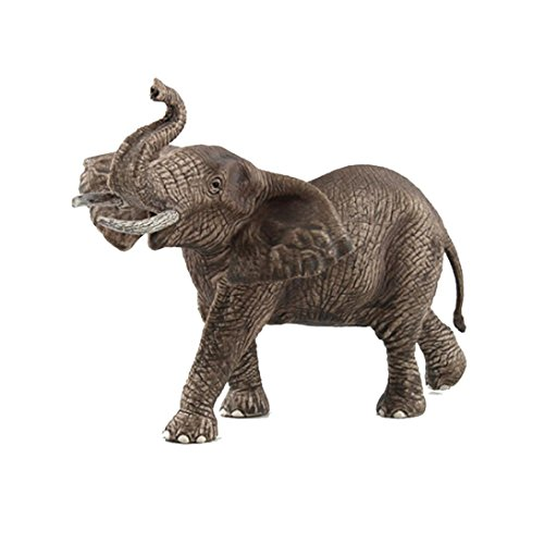 Dartphew Toys,Dartphew 1Pcs Realistic Elephant Animal Model Toy,Figurine Model Decoration Ornament Educational Toys,Great Gift for Kids Baby Children Boys Girls(Fashion) (Male Elephant)