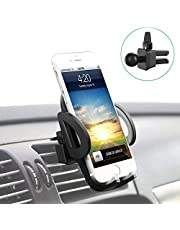 Car Phone holder car air vent holder, Four-sided soft rubber 3-Level Adjustable car Phone mount Compatible with iPhone 11 Pro XS XR X 8 7 6Plus Samsung Galaxy S9 S8 S7 S6 Note9, Google Pixel LG Nexus Nokia Moto and More by TianYi