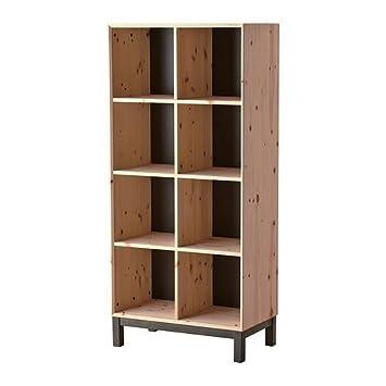 Ikea Nornäs Bücherregal Aus Massiver Kiefer In Grau Amazonde