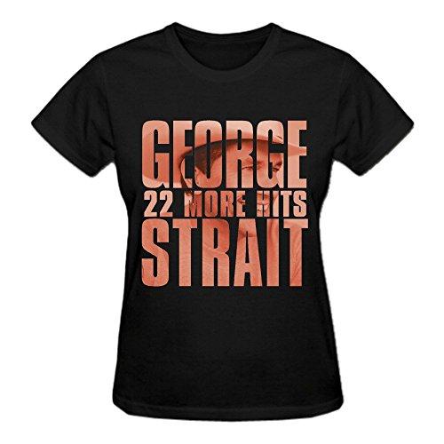 George Strait 22 More Hits Womens T-Shirt Black