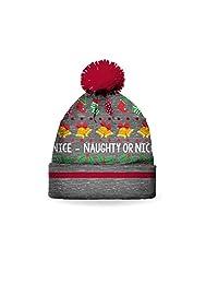 SPORTICUS Kid's Fun Christmas Pom Pom Hat 4-6X (Various Designs)