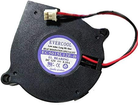 New Cooler Fan for EVERCOOL EC5015L12E-B 50x50x15mm DC12V 0.10A 2Wire 50x50x15mm Cooling Fan
