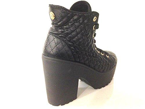Farabella Sneaker Donna Scarpe Guess Zeppa Nylon D15gu33 Trapuntato Nero Mod w6XXqExWrA