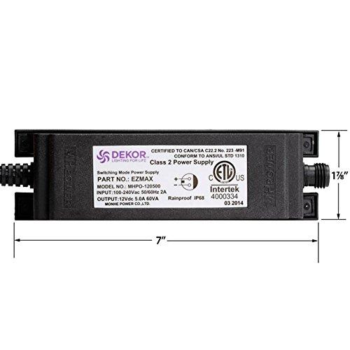 Outdoor waterproof 60 watt transformer - EZ 60 Waterproof Transformer for LED lights by DEKOR (Image #4)