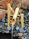 Bamboo Accents Traditional Japanese Rocking Water Fountain, Outdoor Water Fountain, 12' Shishi...