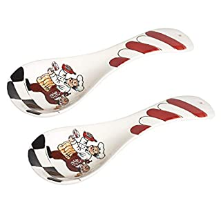 Lorren Home Trends Ceramic Spoon Rest-Set of 2