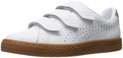 Puma Mens Basket Classic Strap Citi Fashion Sneaker, blanco, caqui, White/Vintage Khaki, 40.5 D(M) EU/7 D(M) UK