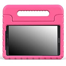 MoKo Samsung Galaxy Tab E 8.0 Case - Kids Shock Proof Convertible Handle Light Weight Super Protective Stand Cover for Samsung Galaxy Tab E 8.0 Inch SM-T377 4G LTE Tablet, MAGENTA
