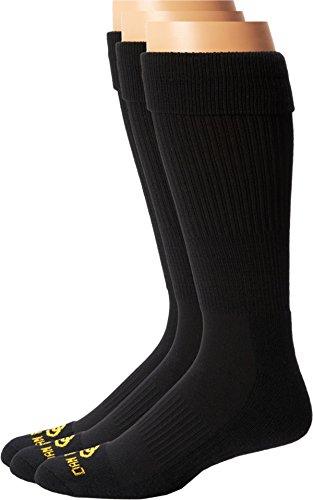 Dan Post Men's Dan Post Cowboy Certified Over the Calf Socks 3 Pack Black 10 ()