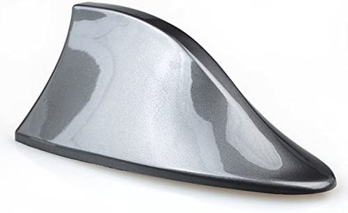 Folconroad Señal de radio universal para coche diseño de aleta de tiburón Coche techo superior AM/FM Radio tiburón antena(gris)