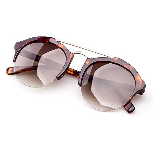 Colossein Unisex Classic Sunglasses,Acetate Round Frame With Nylon HD polarized Lens,UV 400