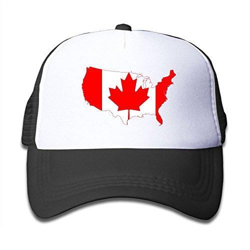 Canada Flag Map Boy & Girl Grid Baseball Caps Adjustable sunshade Hat For children