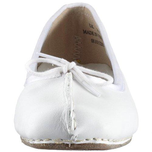 Ballerina Flate Clarks hvit Fregner Hvit Kvinners EqEt4
