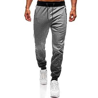 Amazon.com: Beautyfine Fashion Drawstring Pants Mens ...
