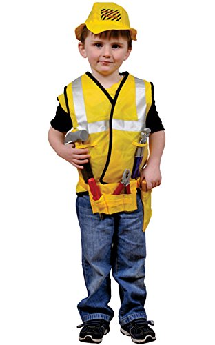 [Dress Up America Role Play Costumes Collection (3-7 Year, Construction Worker Role Play Dress Up] (Girl Construction Worker Costumes)