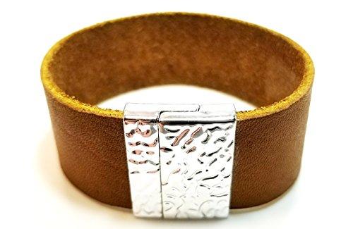 Christian Berkey Handmade Men's Bracelet - Leather Bracelet - Tan by Christian Berkey Signature Accessories