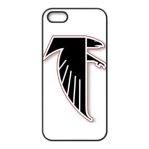 Atlanta Falcons Team Logo coque iPhone 4 4S Housse téléphone Noir de couverture de cas coque EBDOBCKCO14401