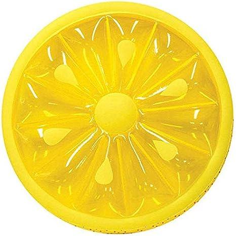 GJNVBDZSF Piscina, hilera Flotante Inflable Hilera Redonda de limón Inflable Hilera Flotante Montaje en Isla Anillo de natación Jardín Grande de Color Naranja Patio Trasero