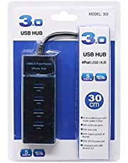 USB Super Speed, 3.0 Hub, 4 Ports, Black - 303