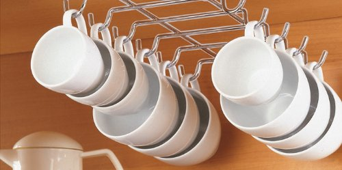 Superb CHROME UNDER SHELF CUP HOLDER (HOLDS UP TO 12 CUPS!)   Buy Online In UAE.    Home Products In The UAE   See Prices, Reviews And Free Delivery In Dubai,  ...