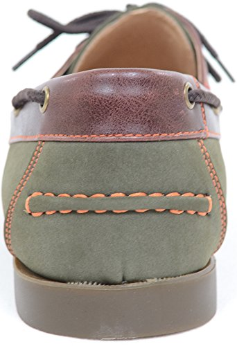 Hombre Elegante / Casual / Verano Con Cordones Barco / Zapatos De Cubierta / Mocasines - Verde / Marrón - Us 10