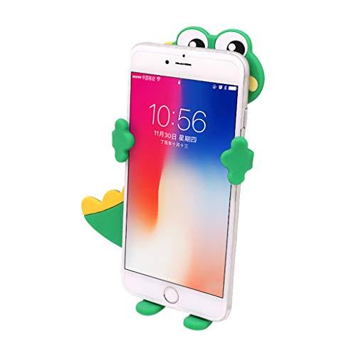 ❤SU&YU❤Silicone Car Air Vent Mount Phone Holder Cradle Stand Cartoon Creative Bracket (Green)]()