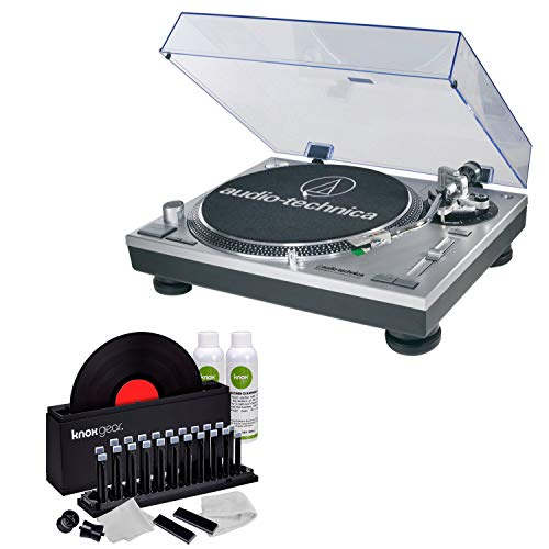 (Audio-Technica AT-LP120-USB Direct-Drive Turntable (USB & Analog) with Knox Vinyl Cleaner Kit)