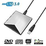 External DVD Drive SAWAKE USB3.0 Portable DVD/CD Drive High Speed Data Transfer for Laptop/Macbook/Desktop/MacOS/Windows7/8/10/XP/Vista