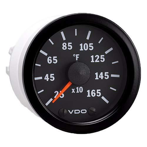 Vdo Vision Black 1600 Degreef Pyrometer With Sender & Harness - 12v