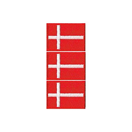 デンマーク国旗ワッペン ミニ SS-3枚セットの商品画像