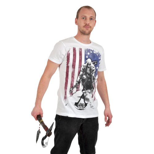 Assassins-Creed-III-Camiseta-Bandera-quemada-Burned-Flag