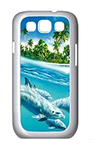 Samsung Galaxy S3 Case and Cover- Dolphins Swimming Custom PC Case for Samsung Galaxy S3 / SIII / I9300 White