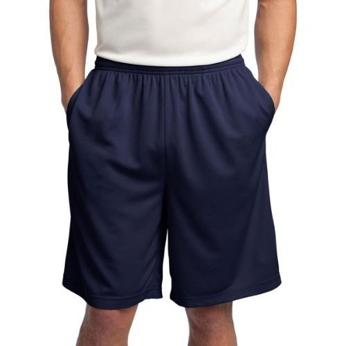 Sport-Tek Men's Comfort Side Pocket Performance Short_True Navy_X-Large