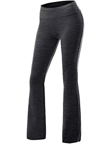 NINEXIS Women's High Waist Bootcut Running Yoga PantsCHARCOAL M
