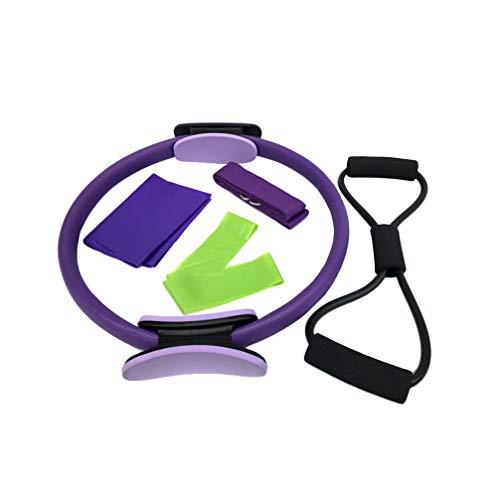 Garneck 1 conjunto/5 peças de acessórios de ioga práticos e duráveis para extrator de anéis de ginástica para exercícios…