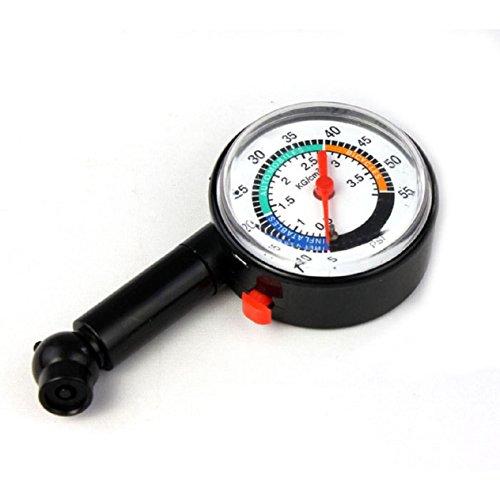 Malloom Auto Motor Car Bike Tire Air Pressure Mini Tyre Gauge Dial Meter Vehi...