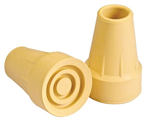 "Carex Standard 3/4"" to 7/8"" Crutch Tips, Tan"