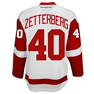 Henrik Zetterberg Detroit Red Wings Road Jersey by Reebok - SEWN TACKLE TWILL NAME/NUMBER